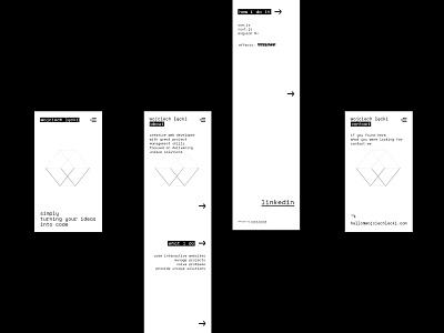 wojciech łęcki / mobile pages developer ux webdesign front-end developer web branding logo graphic design