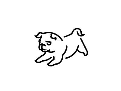 puggy / logo graphic design logofolio jump dog cute logo pug