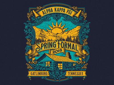 UT Greek Spring Formal apparel t-shirt sorority mountains tennessee gatlinburg spring formal fraternity university of tennessee