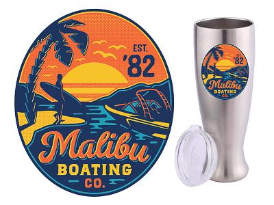 Malibu Boats Decal boats design surfing summer beach malibu