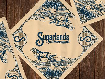 Sugarlands Distilling Co. Bandana dog mountains bandana moonshine whiskey sugarlands sugarlands distilling