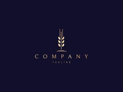 Wheat gold logo