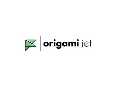 Origami jet logo