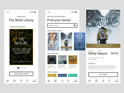 The Book Library App White