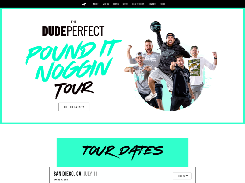 Dude Perfect Homepage Update
