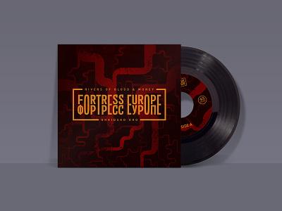 Fortress Europe Record Mockup abstraction grid illustration mockup 7 texture art album record