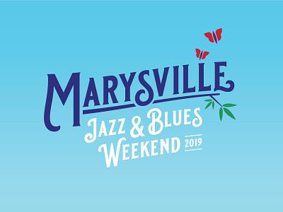 Marysville music festival poster branding design illustration typography
