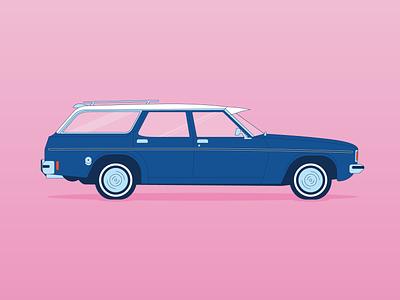 Holden Kingswood Wagon vintage classiccar design vector illustration