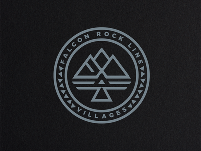 Falcon Rock Line Villages Logo art icon identity international illustration branding design logo design logo