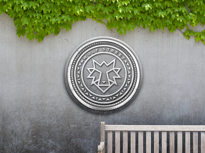 Wolf Street Park Bench Signage cafe international identity icon branding illustration logo design design logo packaging