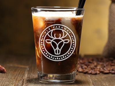 Elk Parkway Glass Design cafe art identity packaging icon branding illustration logo design design logo