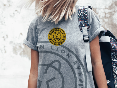 Mountain Lion Ave T-Shirt cafe international identity packaging icon branding illustration logo design design logo