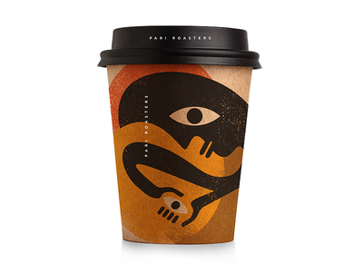 Pari Coffee Roasters Cup identity cafe coffee packaging branding icon illustration logo design design logo