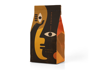 Pari Coffee Roasters Bag art coffee cafe packaging icon branding illustration logo design design logo