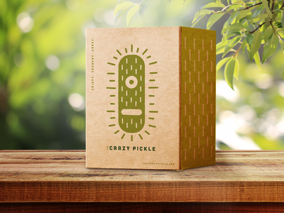 Crazy Pickle Box food cafe packaging identity branding logo design illustration packagingdesign design logo