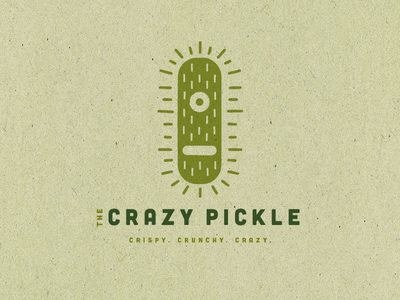 The Crazy Pickle Logo cafe identity branding illustration logo design design logo