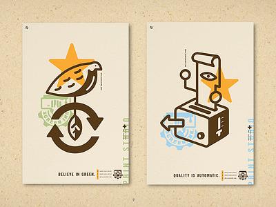 Screen Ink Posters, Green & Quality silkscreen quality printing logo ink design art