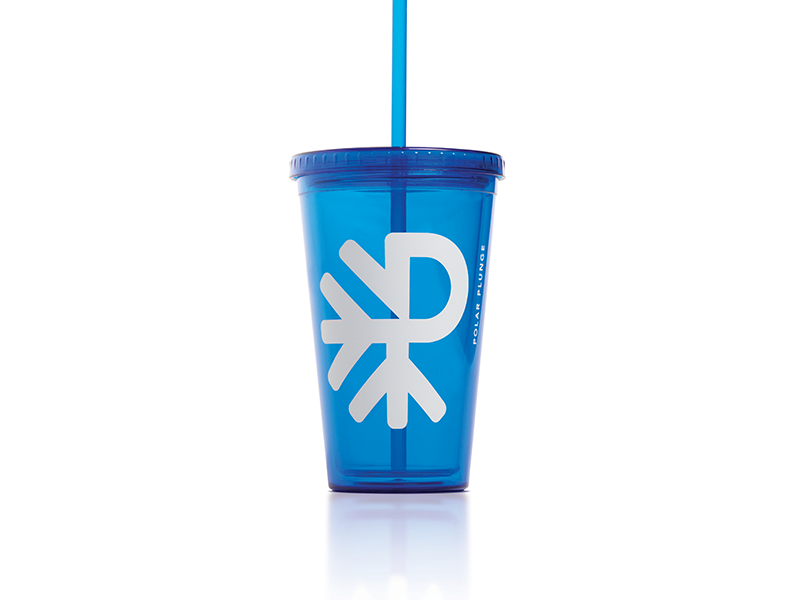 Polar Plunge Cup winter cause blue olympics special snow ice design cup