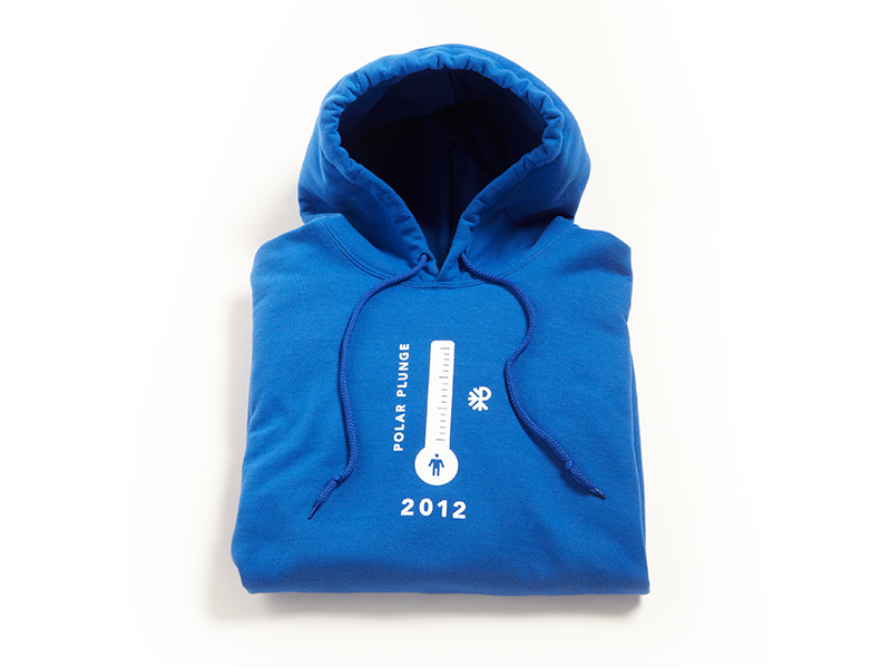 Polar Plunge Hoodie winter special snow olympics ice design cup cause blue