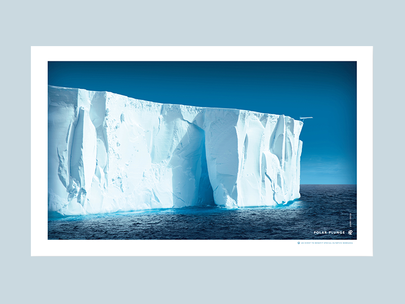 Polar Plunge Ice Berg Poster poster winter special snow olympics ice design cup cause blue