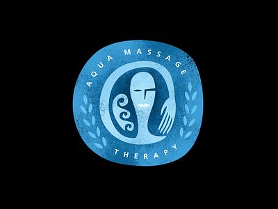 Aqua Massage Therapy Logo logo therapy massage aqua