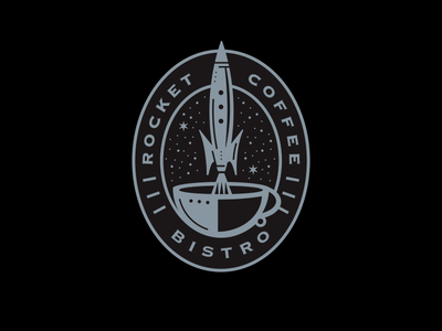 Rocket Coffee Bistro Logo logo bistro coffee rocket