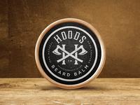 Hoods Beard Balm packaging
