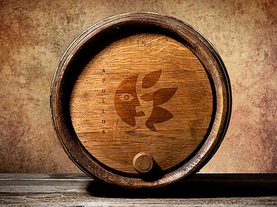 Apollos Vineyard Wine Barrel branding illustration packaging design logo design logo