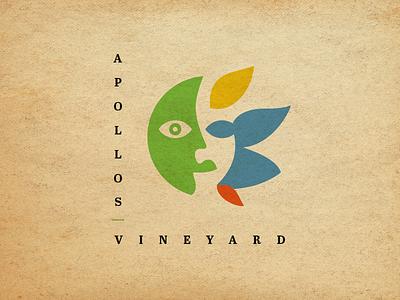 Apollos Vineyard Logo illustration branding logo design logo