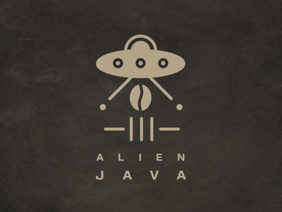 Alien Java Logo branding design logo