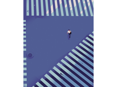 Make your own path night japan roadside cityscape book cover design book cover alone crossroads city roads man character illustration
