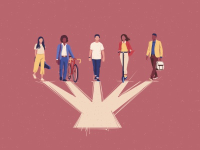 Common direction design togetherness friends multicultural different nationalities persons walking people group character vector illustration