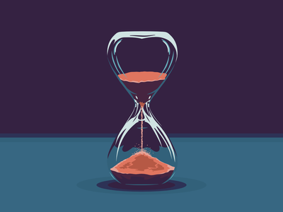 Little Time Left vintage clock sand clock time illustrations illustrator symbol concept art conceptual concept modern abstract vector illustration