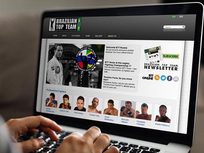 Brazilian Top Team - Website - 2010 dreamweaver photoshop illustrator content management html css php cms wordpress webdesign