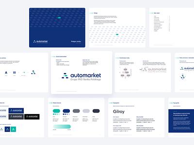 Automarket - Automotive market experience - Brand book automotive manual case study product design brand identity branding logo