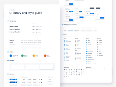 Untill - hospitality management platform - Style guide handover design system web app web design crm light ui light library ui design ui styleguide style guide product design animation