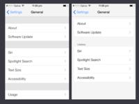 iOS7 Setting Redesign