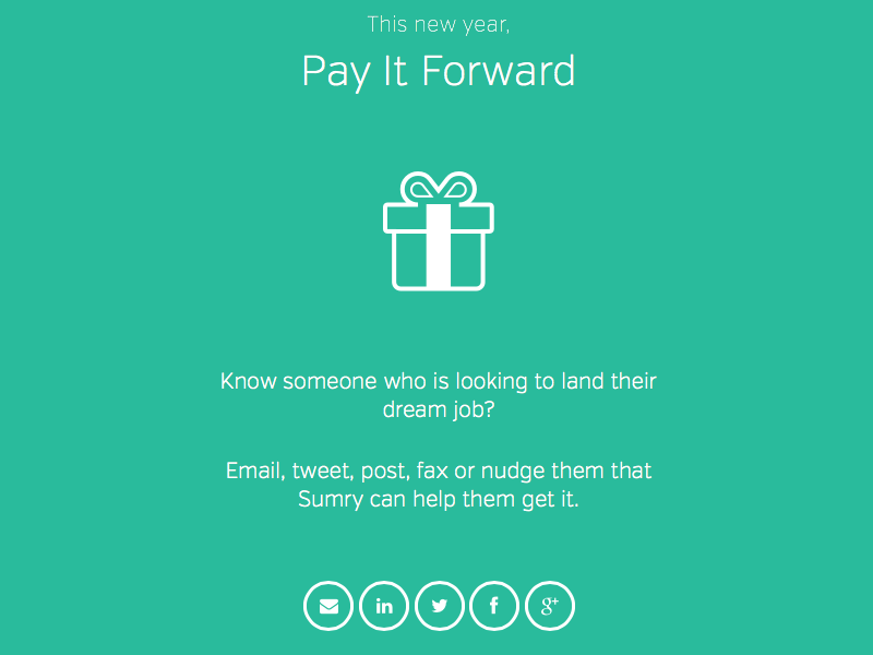 sumry pay it forward sumry job resume gift icon present