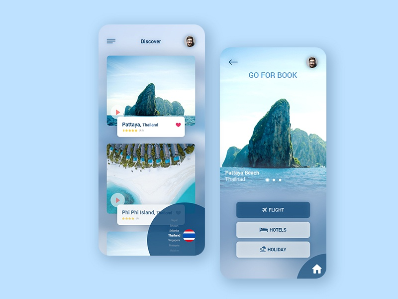 Easy find and easy Booking Travel Agency App travel agency travel app mobile design mobile app design mobile ui ux ui