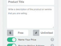 Edit Product UI
