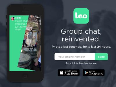 Leo Splash Page