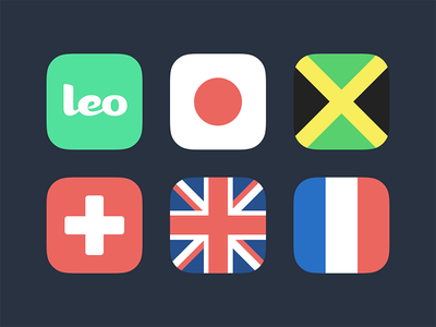 International Leo international flags app icons leo groupchat