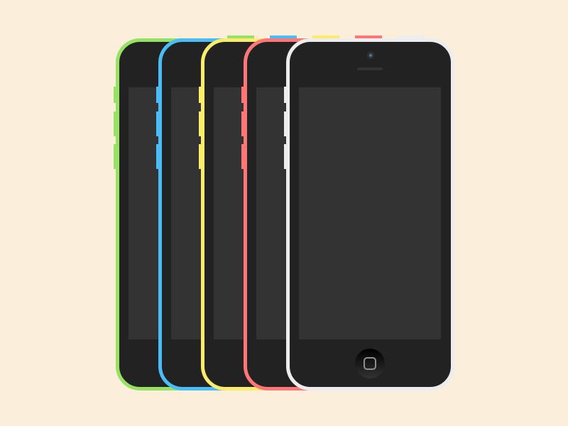 iPhone 5c Sketch Freebie sketch sketch3 freebie free iphone5c 5c iphone device flat