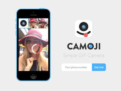 Camoji Website camoji gif splash landing camera moji
