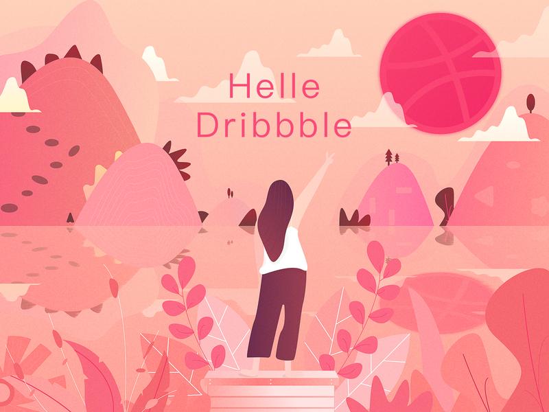 Hello Dribbble 插图