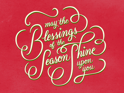 Christmas Card christmas holiday card season winter lettering typography calligraphy