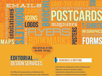 Design Services typography college university web marketing design