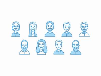 Web & Graphics Department person portrait vector illustration avatar