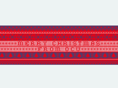 OCU Christmas Filter season winter festive holiday merry snowflake christmas sweater knit