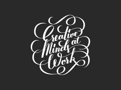 Creative Minds quote creativity wip lettering t-shirt